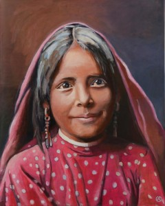 Young native indian girl